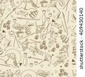 japan seamless retro line art... | Shutterstock .eps vector #409430140