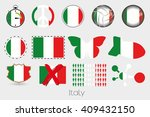 many different styles of flag... | Shutterstock . vector #409432150