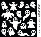 Scary White Ghosts Design On...
