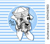 Vector White Dog In A Hat....