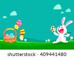 cartoon illustration of cute... | Shutterstock .eps vector #409441480