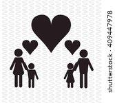 flat illustration of family... | Shutterstock .eps vector #409447978