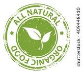 all natural organic food green... | Shutterstock . vector #409448410