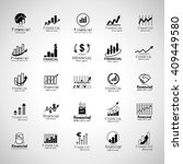 financial icons set isolated on ... | Shutterstock .eps vector #409449580