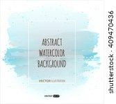 Vector Blue Watercolor Template ...