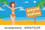 vector card with cartoon image... | Shutterstock .eps vector #409475239