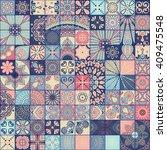 seamless pattern. vintage... | Shutterstock .eps vector #409475548