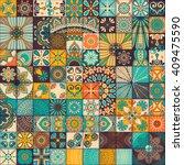 seamless pattern. vintage...   Shutterstock .eps vector #409475590