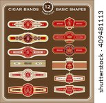 a set of old fashioned cigar... | Shutterstock .eps vector #409481113