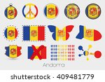 many different styles of flag... | Shutterstock .eps vector #409481779