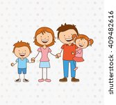 happy family design  | Shutterstock .eps vector #409482616