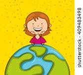 happy kids design  | Shutterstock .eps vector #409483498
