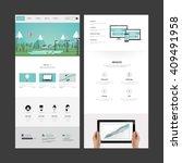 one page website design...