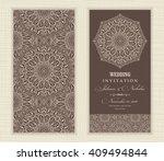 wedding invitation card arabic  ... | Shutterstock .eps vector #409494844
