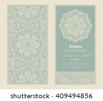 wedding invitation card arabic  ... | Shutterstock .eps vector #409494856