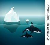 arctic nature. vector... | Shutterstock .eps vector #409498630