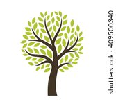 stylized vector tree isolated... | Shutterstock .eps vector #409500340