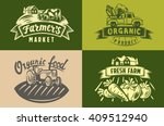 vector image of farm labels and ... | Shutterstock .eps vector #409512940