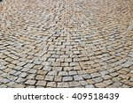 cobblestone street pavement   Shutterstock . vector #409518439