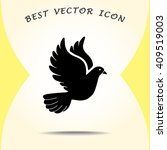dove sign icon  vector... | Shutterstock .eps vector #409519003