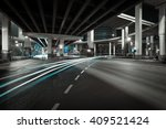 city road viaduct streetscape... | Shutterstock . vector #409521424