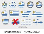many different styles of flag... | Shutterstock .eps vector #409522060