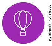 hot air balloon line icon.   Shutterstock .eps vector #409535290