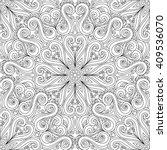 vector seamless monochrome... | Shutterstock .eps vector #409536070