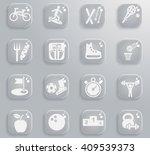 sport web icons for user... | Shutterstock .eps vector #409539373