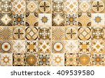 colorful vintage ceramic tiles... | Shutterstock . vector #409539580