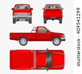 car pickup truck one cab vector ... | Shutterstock .eps vector #409541299