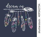 vector illustration with tribal ... | Shutterstock .eps vector #409542754