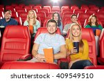cinema  entertainment and... | Shutterstock . vector #409549510