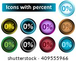 clipart icons with zero percent | Shutterstock .eps vector #409555966