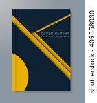 business report design... | Shutterstock .eps vector #409558030