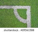 corner of football field with... | Shutterstock . vector #409561588