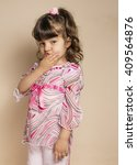 small baby in summer fashion... | Shutterstock . vector #409564876