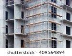 scaffolding on a building | Shutterstock . vector #409564894