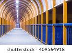 pedestrian walkway at night | Shutterstock . vector #409564918