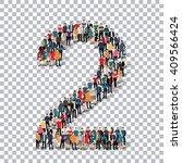 people number alphabet 3d   Shutterstock .eps vector #409566424