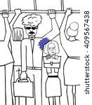 sweaty armpits.sweaty man.bus... | Shutterstock .eps vector #409567438
