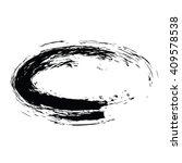 grunge vector frame oval shape | Shutterstock .eps vector #409578538