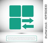 infographic styled vector  cube ... | Shutterstock .eps vector #409583830