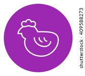 chick line icon. | Shutterstock .eps vector #409588273