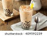 Homemade Milk Bubble Tea with Tapioca Pearls