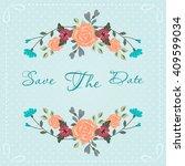 floral vintage card. | Shutterstock .eps vector #409599034