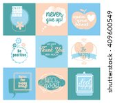 collection of 9 cards with...   Shutterstock .eps vector #409600549
