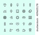 cafe icons outline | Shutterstock .eps vector #409605178