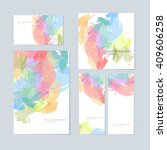 set of colorful vector... | Shutterstock .eps vector #409606258