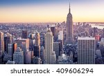 aerial view of manhattan in new ... | Shutterstock . vector #409606294